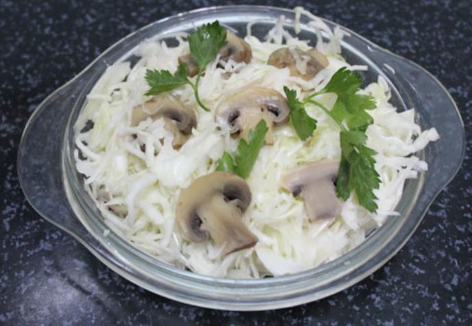 капуста с белыми грибами рецепт с фото